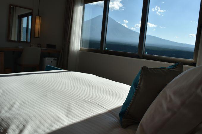ステイ中ずっと富士山を眺められるのがハイランドリゾートホテルの人気ポイント