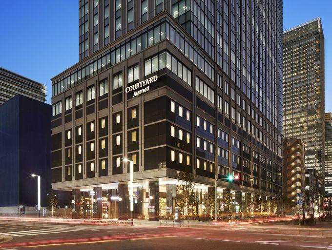 東京駅から4分、銀座は徒歩圏内の好立地にあるホテル