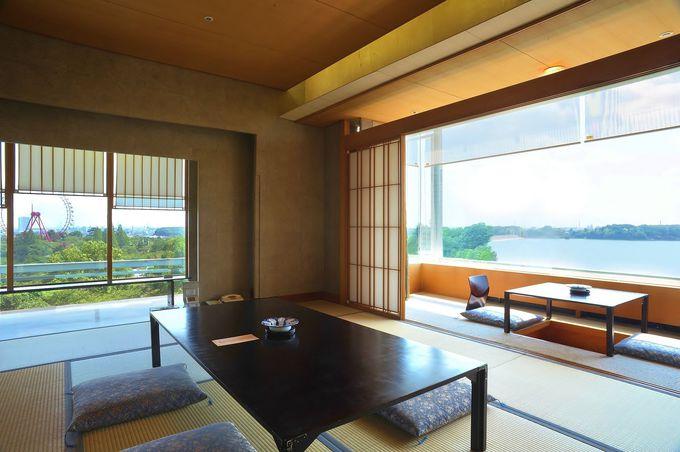 多摩湖の絶景が一望できる「パノラマウインドー」