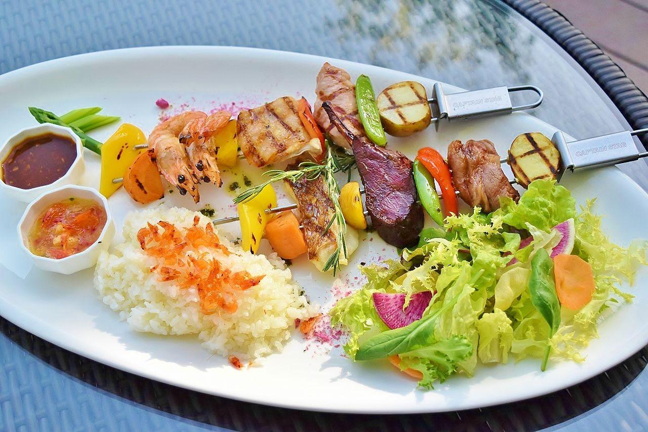 「Grill&Dining G」では伊豆のローカルブロシェットが味わえる