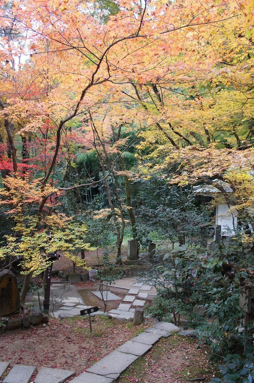 祇園の賑わいの奥にひっそりとある紅葉の名所・長楽寺