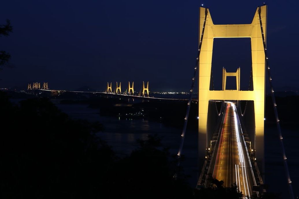 橋を真上から眺める