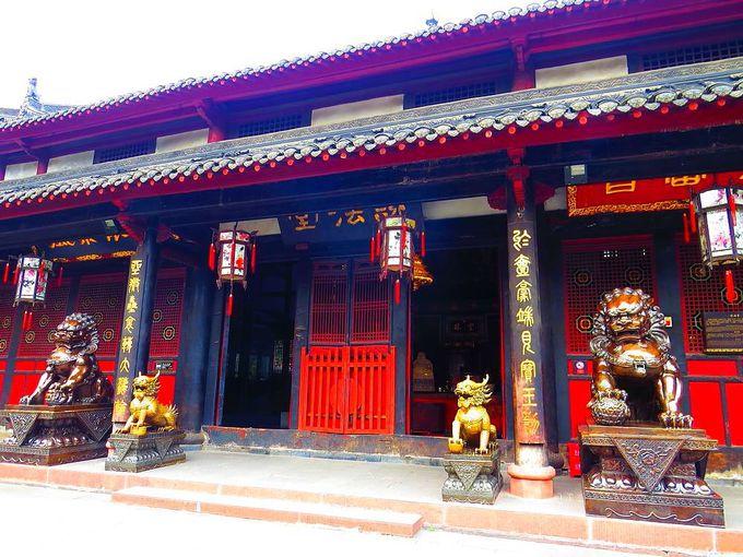四川省の仏教中心寺「文殊院」