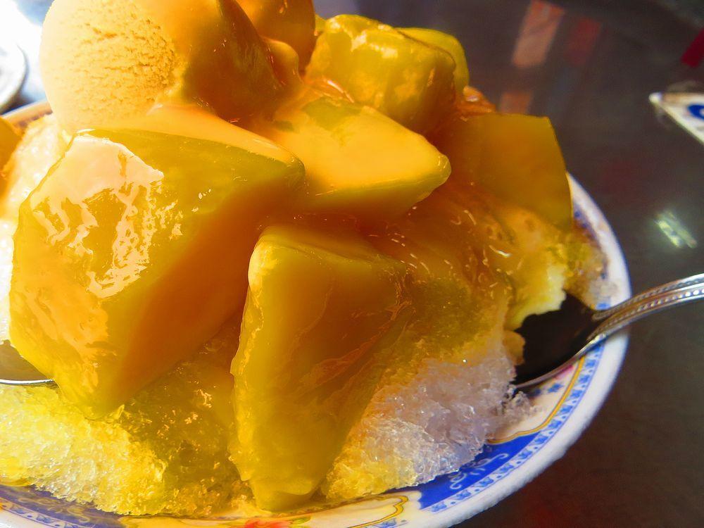 マンゴーとアイスとかき氷