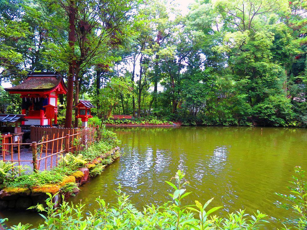 小さいながらも美しい「鎮女池」
