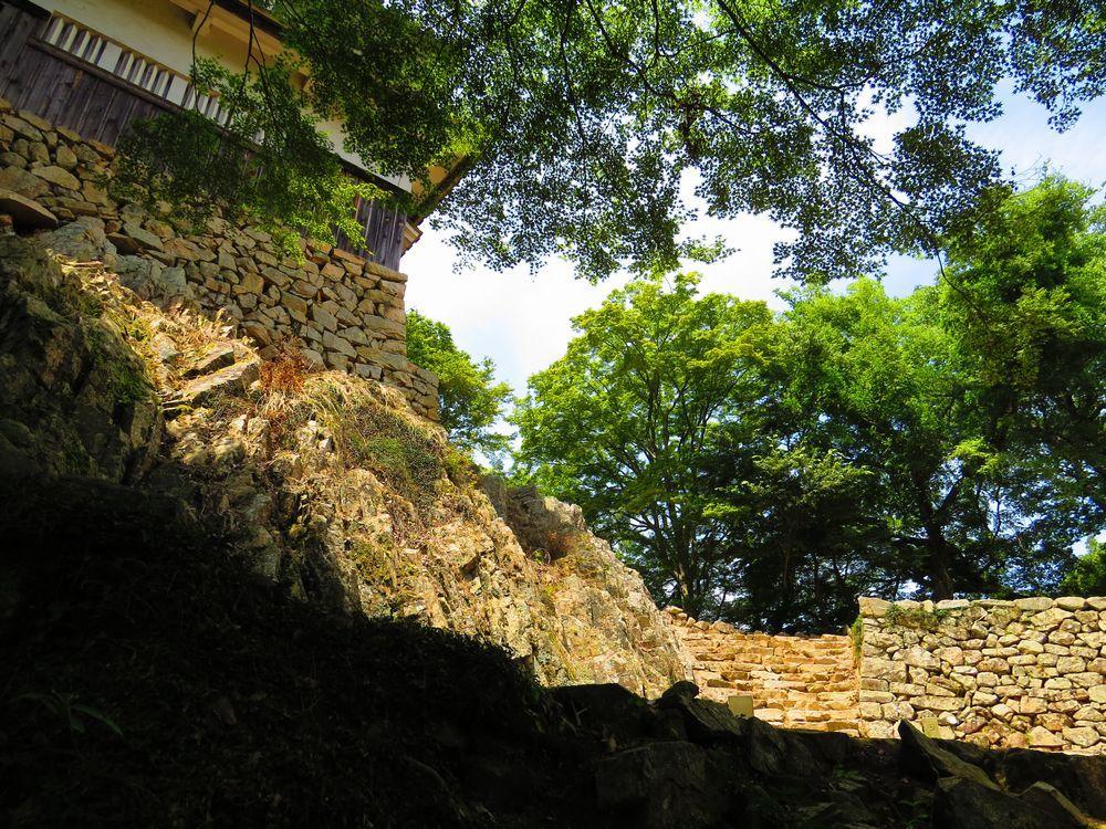城の裏に回る