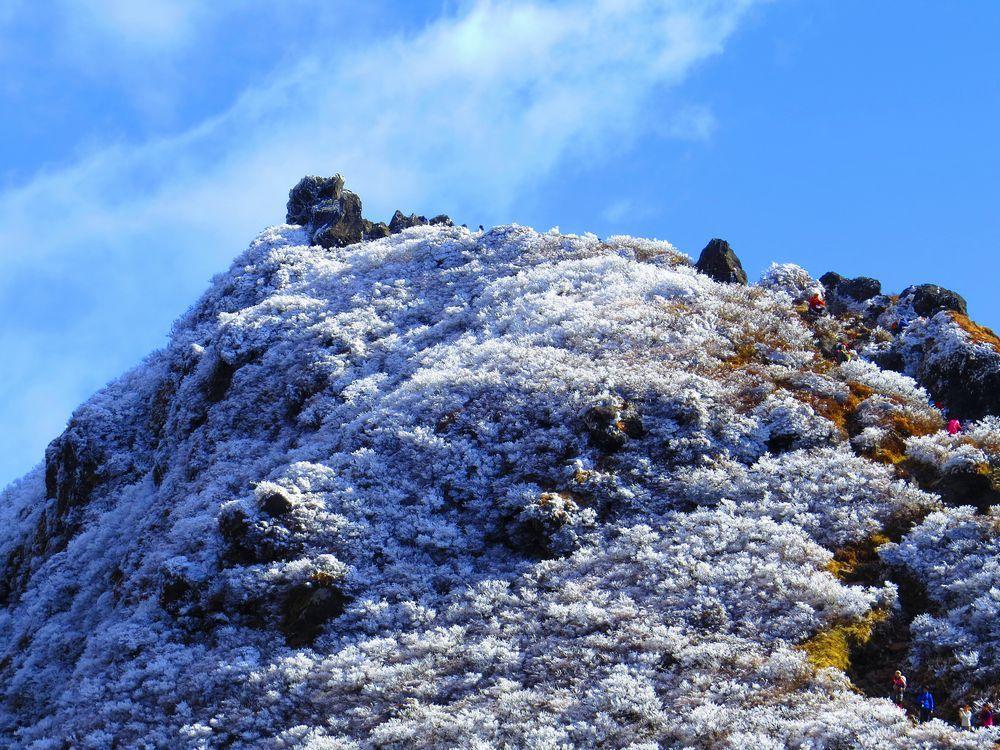由布岳は大分の名山!秋は美しき霧氷を楽しもう