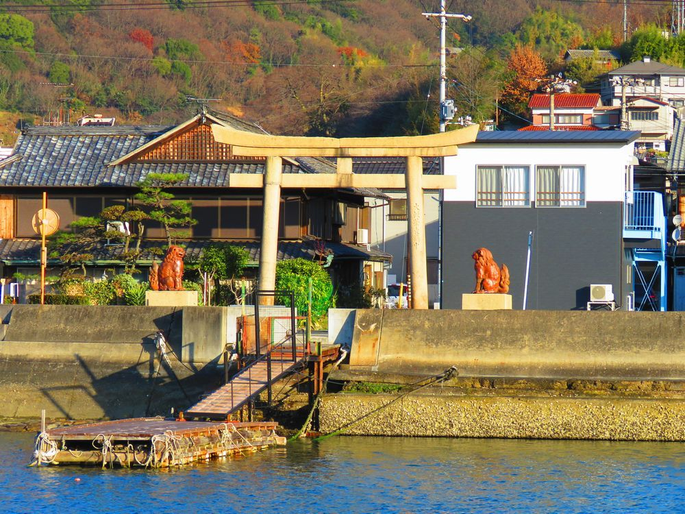 倉敷児島田の口の港から歩く