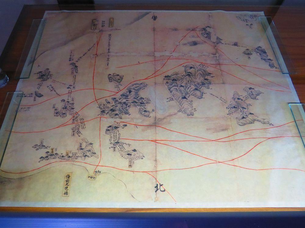 昔の航海図