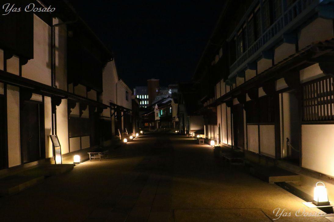 出島の歴史とライトのコラボ