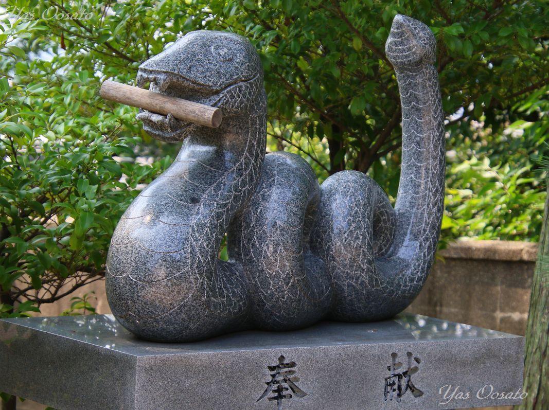 道通神社の蛇