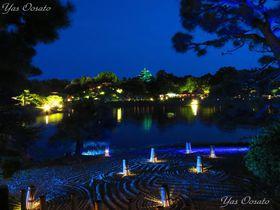 岡山城と後楽園の幻想的な夜間公開は春・夏・秋だけの美しさ