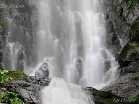 兵庫「猿尾滝」落差60mの美観!流れの奥に石仏やマリア像を探そう
