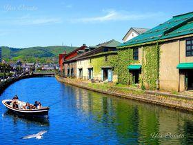 小樽運河から北運河で赤い靴の像や明治の建物、絶品スイーツも!