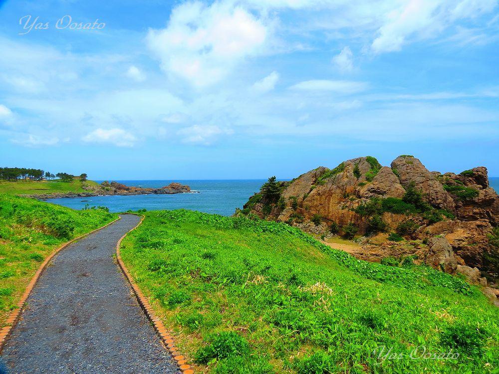 海岸線を散策出来る大須賀海岸「遊歩道」