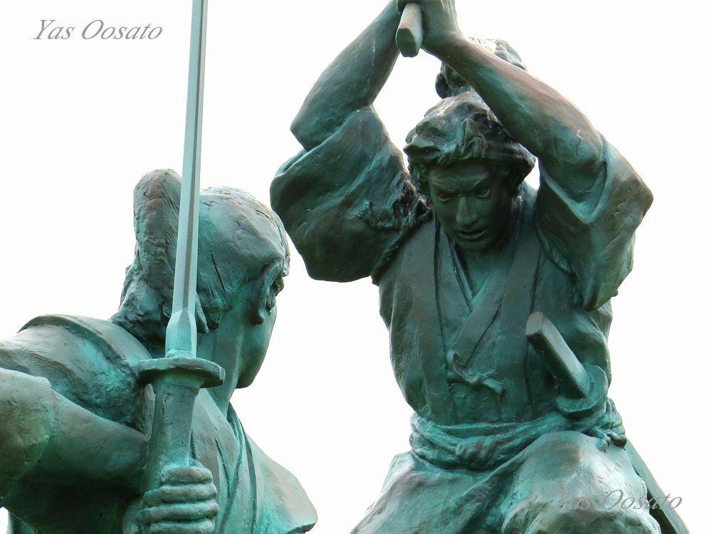 宮本武蔵と佐々木小次郎の巌流島の戦い