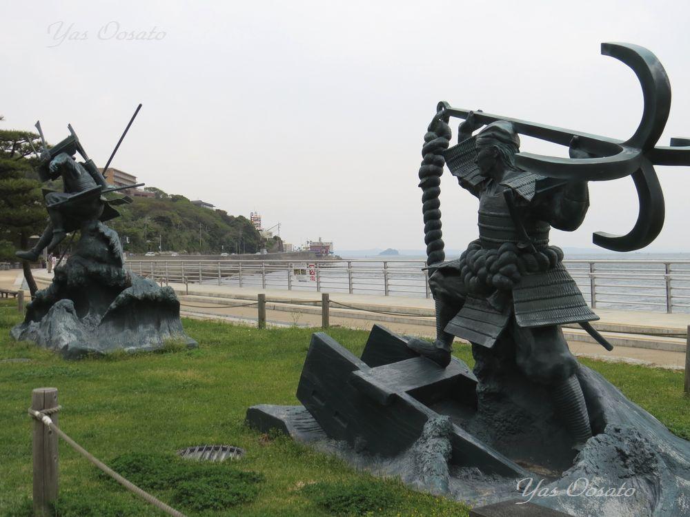関門橋のすぐ近く「壇ノ浦古戦場跡」