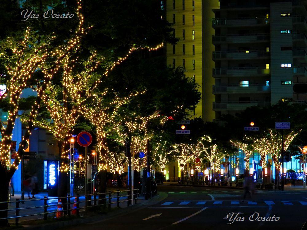 駅前から「神戸ガス燈通り」に広がる光の世界