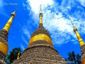 タイ・パトゥムターニーで牡蠣の貝殻寺院・ワットチェディホイ観光