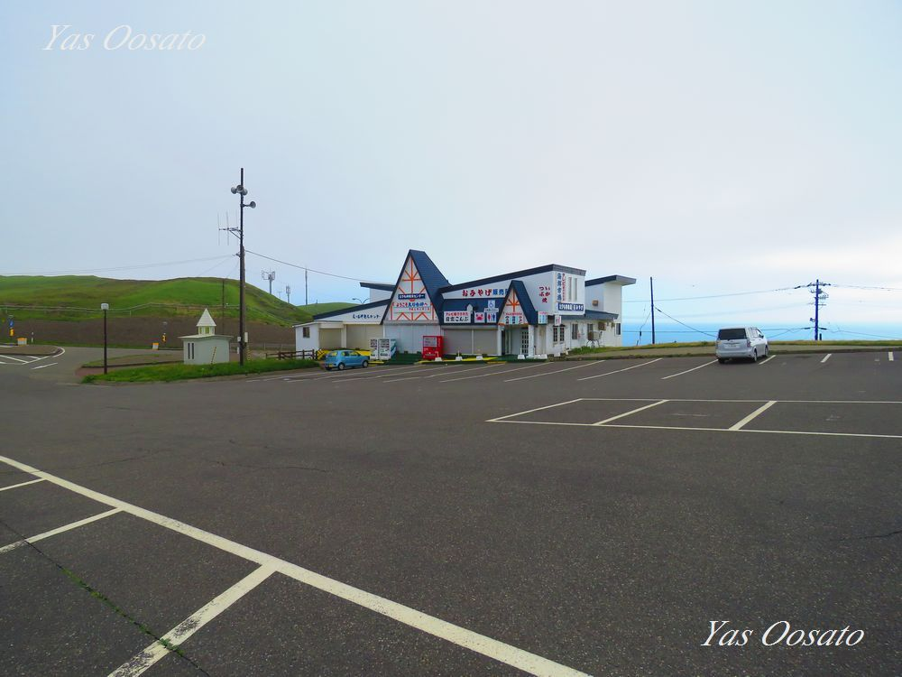 駐車場から右回りに進み、強風には注意
