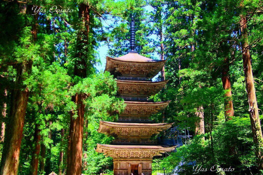 国宝の五重塔拝観