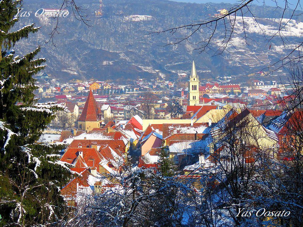 山上教会の高台から見下ろす絶景の旧市街地