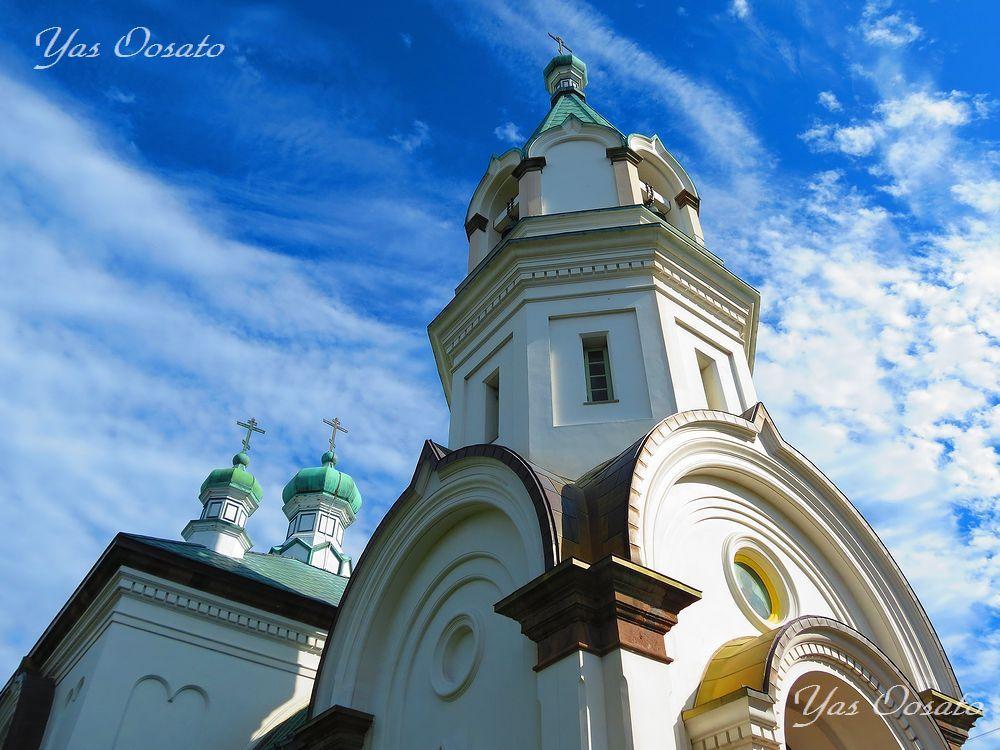 美しい函館ハリストス正教会とカトリック元町教会