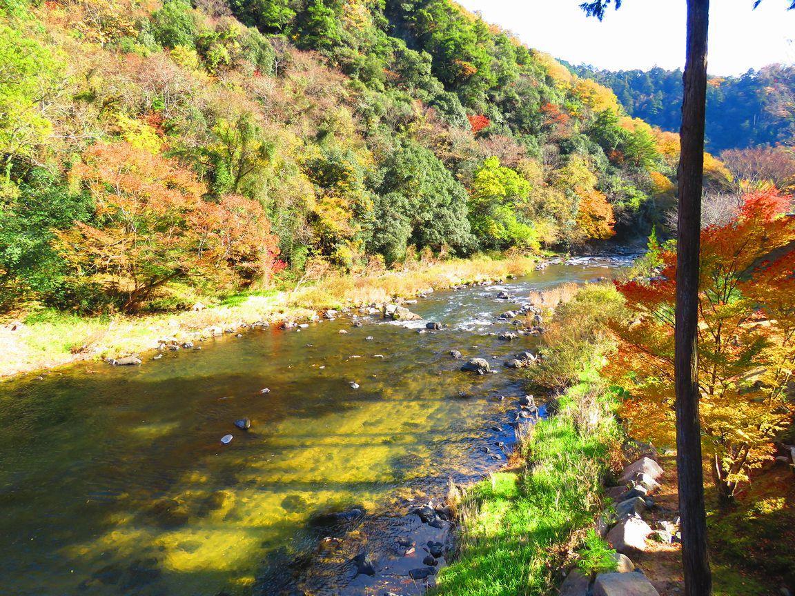 赤橋も美しい「宇甘渓」