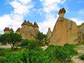 トルコの世界遺産・カッパドキアで奇岩と遺跡群観光