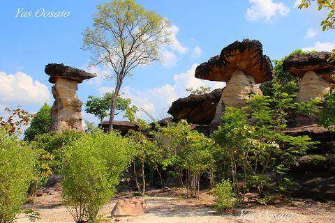 タイのカッパドキア?10億年のキノコ岩 パーテム国立公園