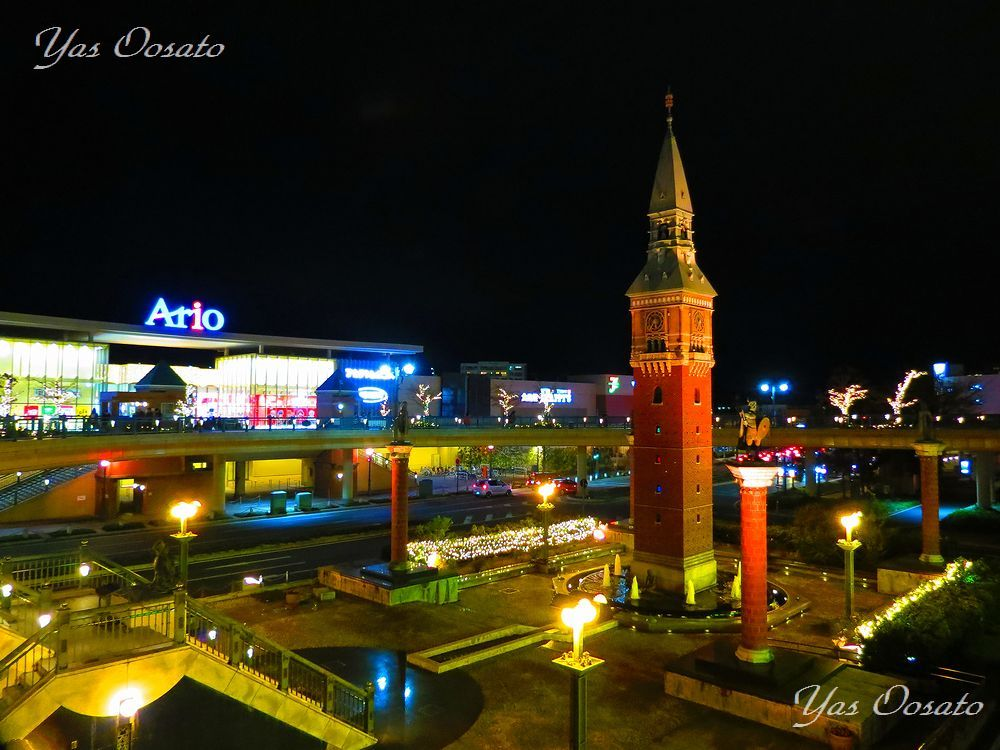 倉敷駅北デッキとアンデルセン広場