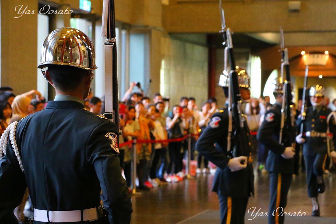 国父記念館で衛兵交代式