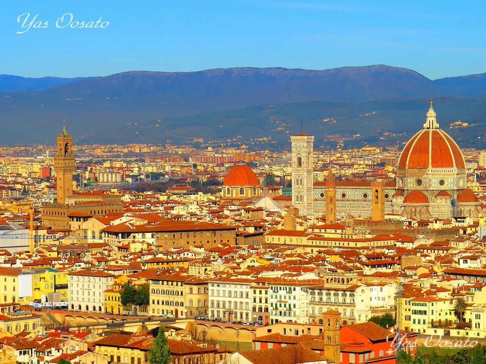 フィレンツェの美しさは「ミケランジェロ広場」から