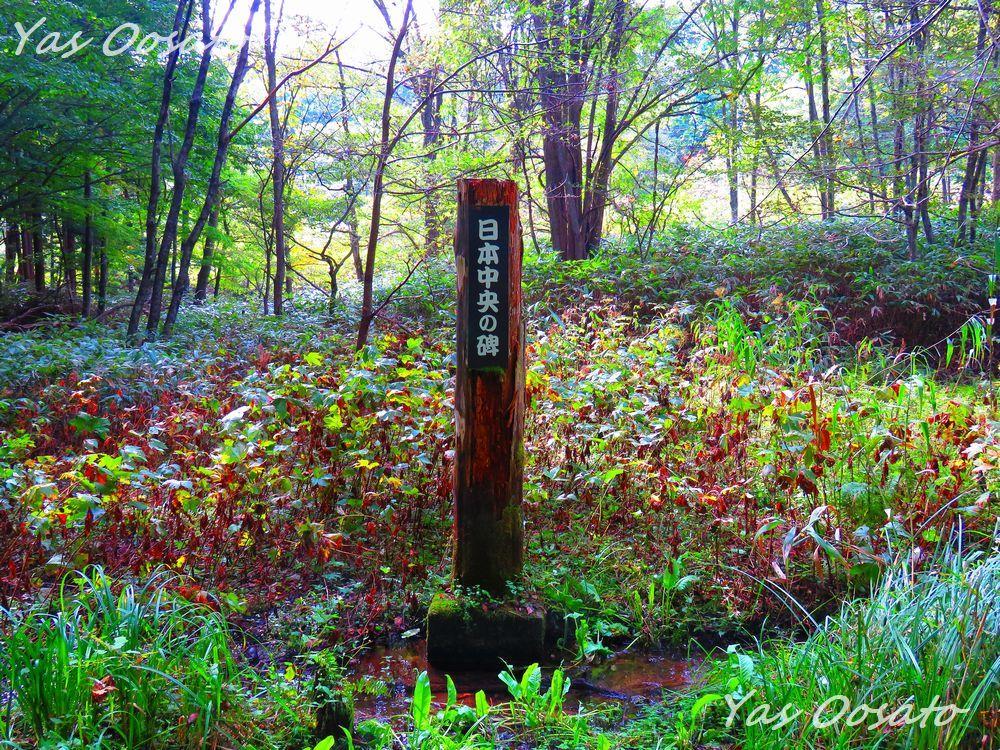 ここが「日本中央の碑」発見地