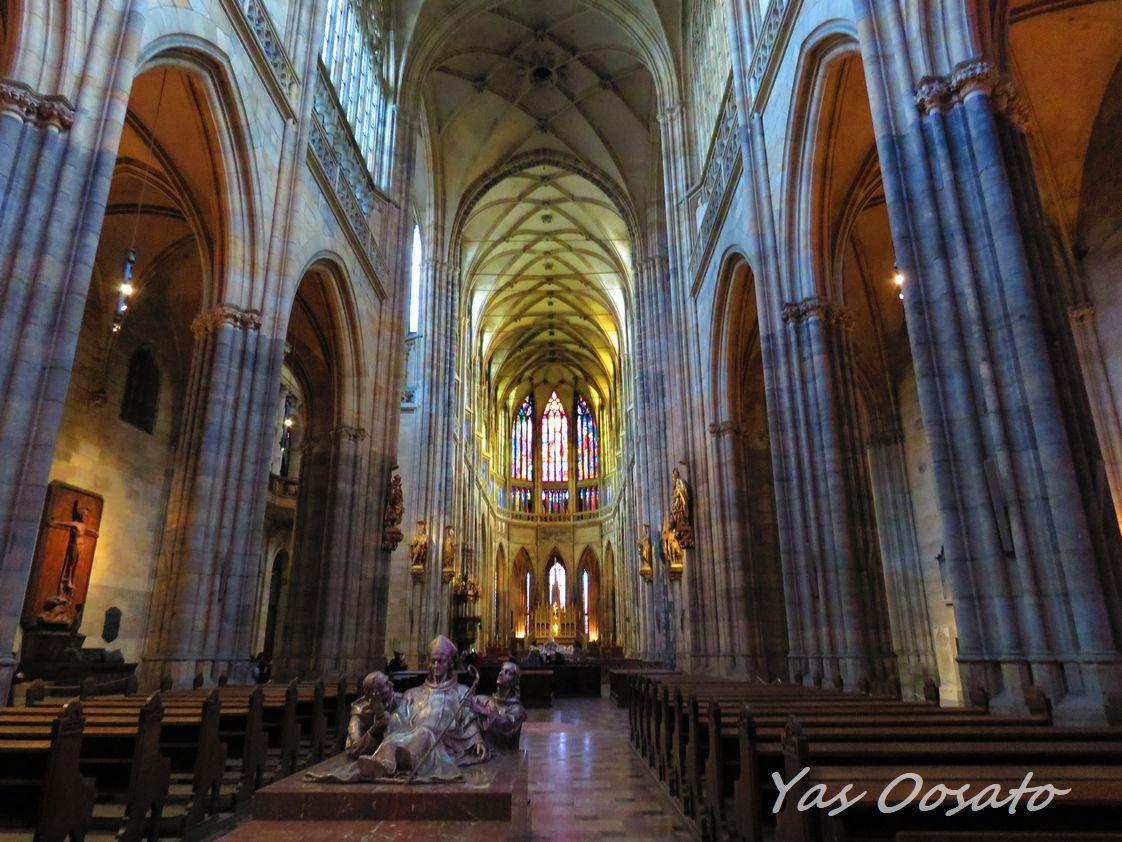聖ヴィート大聖堂内の美しさ