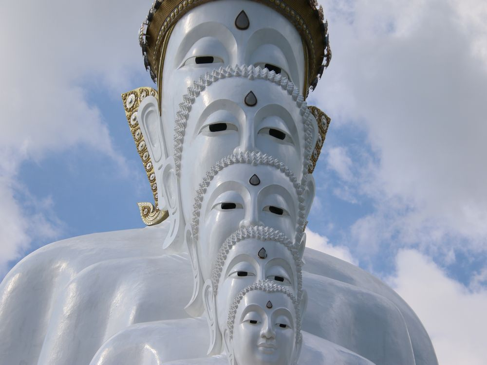 必見の逆さ仏像
