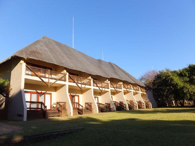 チョベ国立公園に隣接した便利なホテル