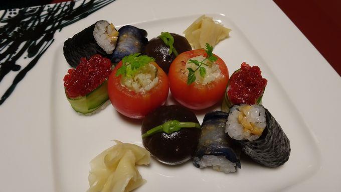 ふくやの懐石料理はお寿司とともに