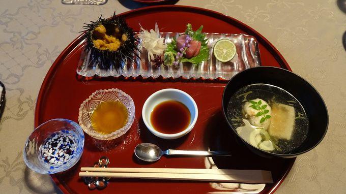 松島の景観を見ながら絶品の料理を