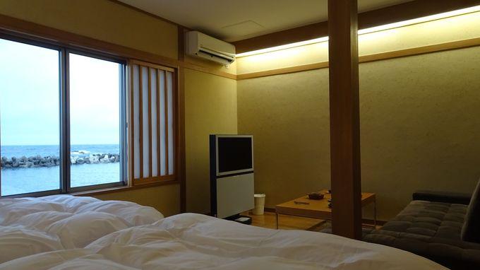 えちぜんの間はどこからも日本海が見える広い部屋