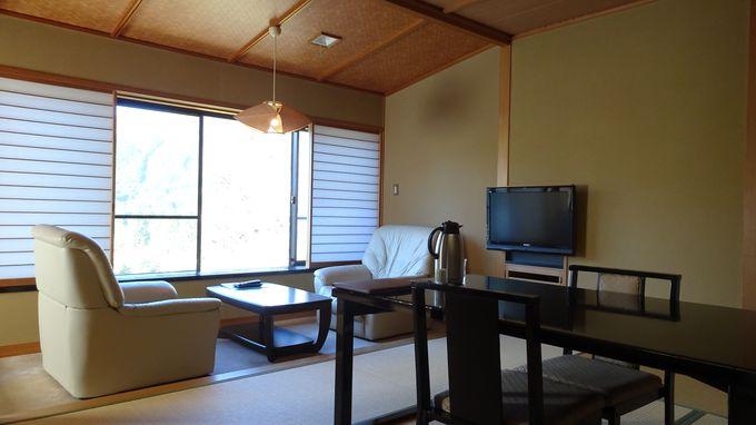 客室はどの部屋も広くゆったりした設計
