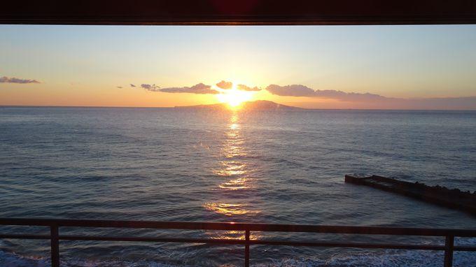 天候に恵まれたら旅館自慢の「日の出」は必見