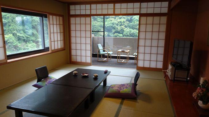 客室は鈴鹿山脈の四季を感じる和室が全25室