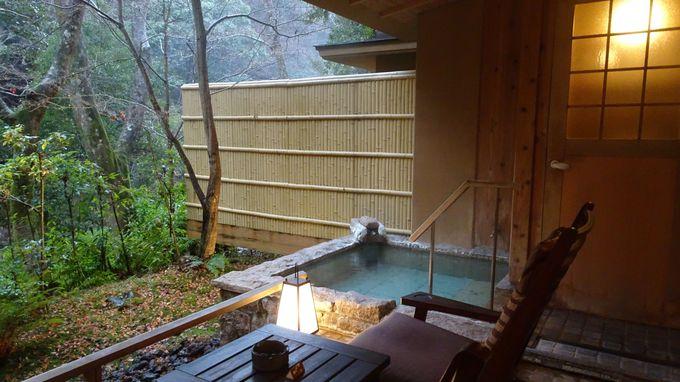 全室温泉露天風呂付きの客室は全4タイプ