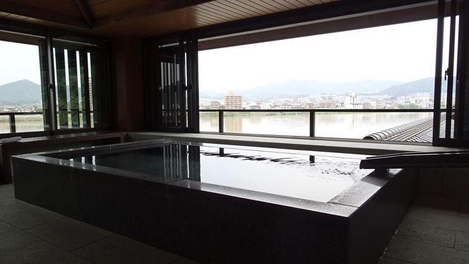 絶景の貸切風呂で犬山の自然を満喫