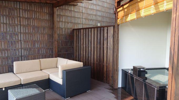 オーシャンビューの魅力の部屋は全室温泉露天風呂付き