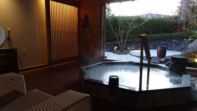 贅沢な3ヶ所の貸切風呂は予約制