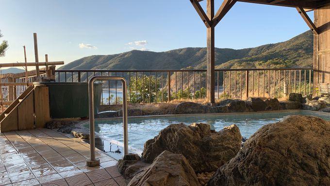 絶景露天から温泉に浸かりながらの夕陽も最高