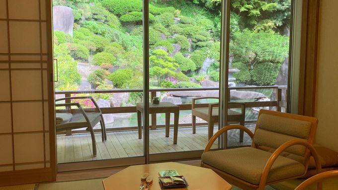 僅か2部屋のみが許される大人気の本館庭園露天風呂付き和洋室