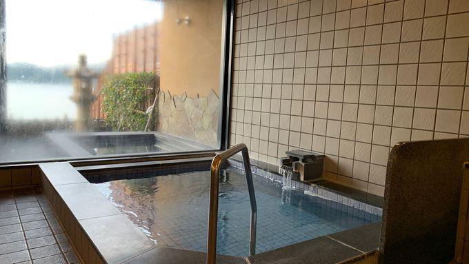 この地域では少ない天然温泉のお風呂も魅力